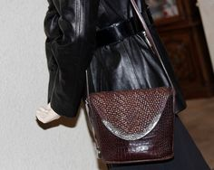 Vintage Brighton Cross Body Bag Brown Basket Weave Leather Bag. Beautiful vintage Brighton with Basket Weave Flap and Croc pattern front body. Decorative Floral Silver Metal Flap Trim http://r.ebay.com/TMmBB6 #handbag #purse #brighton #crossbody