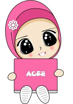 Fizgraphic Design & Printing: Freebies Doodle Muslimah Comel (Lappy Acer)