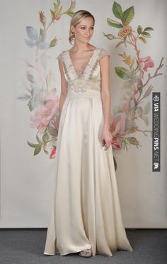 Claire Pettibone's Spring 2014 bridal collection inspired by the old art of Decoupage. Simply gorgeous. | CHECK OUT MORE IDEAS AT WEDDINGPINS.NET | #weddingfashion