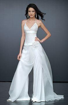 Bride in pants