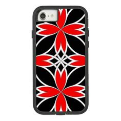 Mirrored Celtic ( Red Invert ) Case-Mate Tough Extreme iPhone 8/7 Case - black and white gifts unique special b&w style