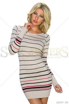 Stripped Prefference Cream Dress