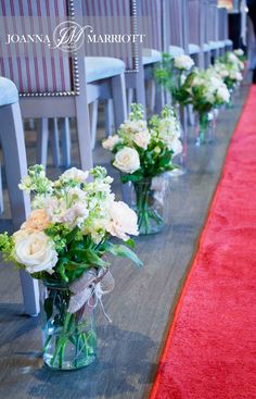 Ceremony flowers in Bromley Court Hotel.