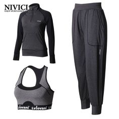 Solid  yoga set women jogging suits long sleeve fitness 3 peces breathable comfortable sport suits 2017 hot spring pad outdoor