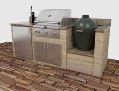 green egg built in outdoor kitchen - Google Search