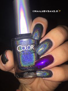 Colorclub holographic nails.