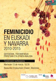 """""""Feminizidioa 2010-2015"""": Hego Euskal Herriko 33 erailketen erradiografia xehetua Movie Posters, Film Poster, Popcorn Posters, Billboard, Film Posters"""