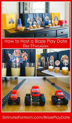 How to host a Blaze Play Date for STEM Inspired Fun - with Free Printables...    STEM stands for Science, Technology, Engineering and Math.  Check out Jen's awesome play date setup as part of our sponsored campaign with Nickelodeon. Her boys are so cute and they loved this play date.