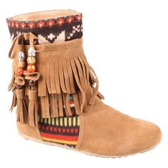 d8b24c528e11 Flat Fringe Moccasin Boots for Women - Short Fringe Moccasin Boots for  Girls…