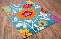 Well Woven Modern Rug Daisy Flowers Blue Floral Accent Area Rug Entry Way Bright Kids Room Kitchen Bedroom Carpet Bathroom Soft Durable Area Rug Bright Flowers, Daisy Flowers, Floral Area Rugs, Bedroom Carpet, Clean Design, Modern Rugs, Small Rugs, Colorful Rugs, Vivid Colors
