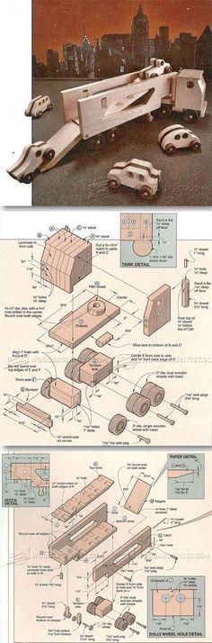 Wooden Toy Auto Transport - Children's Wooden Toy Plans and Projects | WoodArchivist.com