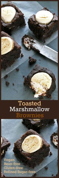 Nutritionicity | Recipe: Toasted Marshmallow Brownies (Gluten-Free, Bean-Free, Vegan / Plant-Based, Refined Sugar-Free) #plantbased #vegan #glutenfree #vegandessert #plantbaseddessert #glutenfreedessert