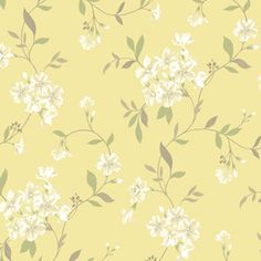 Very pretty yellow wallpaper - I want this somewhere