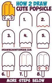 Resultado de imagen para how to draw kawaii food step by step