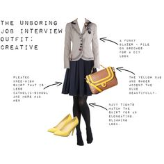 """The Unboring Job Interview Outfit: Part 2, Creative"" by pragmaticfashionista on Polyvore"