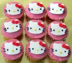 Hello Kitty cupcake ideas