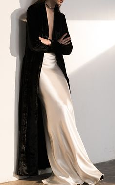 White & Black, satin & velvet Gorgeous!