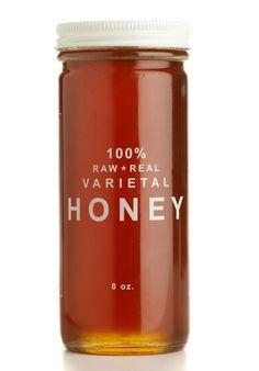 100% raw + real varietal honey: blueberry, raspberry, black sage, etc.