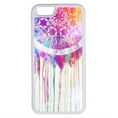 CellPowerCasesTM The Dream Catcher Painting iPhone 6 (4.7) V1 White... ($9.98) ❤ liked on Polyvore featuring accessories, tech accessories, phone cases, phones, cases, phonecase and white
