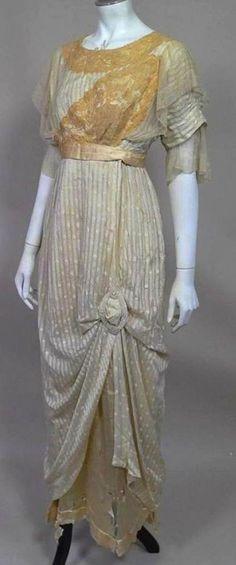 Beaded silk evening dress circa 1912