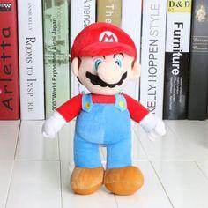 Super Mario Bros Plush Toys Doll 10'' 25cm Super Mario Bros Mario Luigi Stuffed Plush Toy