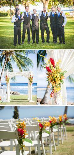 around the world themed destination summer beach wedding 2