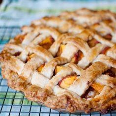 Brown Sugar-Cinnamon Peach Pie.