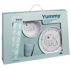 Done By Deer Happy Dots Yummy Dinner Set Blue