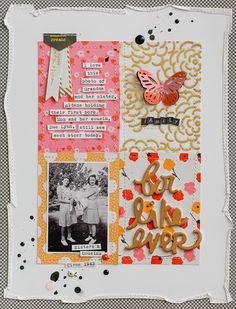 Great way to take a fairly ordered layout and make it whimsical! adore this!