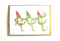 Blank Greeting Card Birthday Special Occasion by DucksandBoats, $5.00 #frog