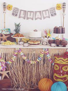 A Hawaiian Luau Party by ThreeLittleMonkeysStudio.com