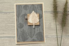 CASE with Fantastic Foliage - Vintage Leaves card