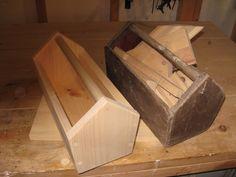 Wood scrap project. Open top tool box.