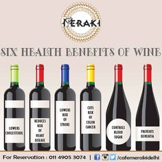 It's wine'o'clock all the time at Cafe Meraki. You wouldn't mind few healthy habits right. #wine #drinkup #together