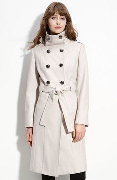 Calvin Klein Double Breasted Wool Blend Coat   Nordstrom - StyleSays