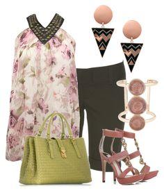 Bermudas by outfits-de-moda2 on Polyvore featuring moda, Alice + Olivia, Fendi, Bottega Veneta, ASOS and Kara Ross