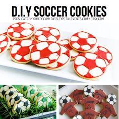 DIY Soccer cookies