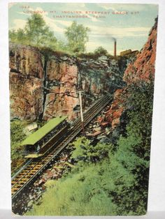 1910 POSTCARD LOOKOUT MT INCLINE STEEPEST GRADE CHATTANOOGA TN