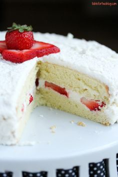 Strawberry Sponge Cake » Table for Two