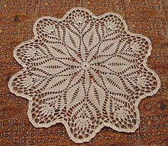 To download the English version, follow the link. Then click on the image for the Doily section, and it's the first pattern at the top of the Doily page.