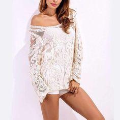 Lace Crochet Shirt Boho Fashion 2017 Autumn Women Tops Floral Patchwork Blouses White #women #fashion #style #tops https://seethis.co/JQd0Xx/