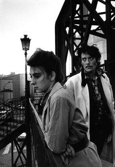 "Robert Doisneau // Portrait of the rock band ""Les Rita Mitsouko"" on October 13, 1988, Paris"