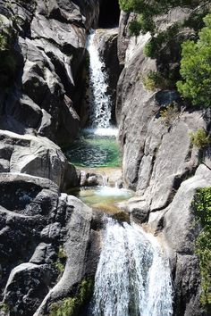 Gerês Mountain - one of the many waterfalls This is to the north of Portugal (nearest airport is Porto)