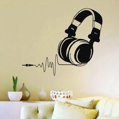 This DJ Headphone Audio Music decal is the perfect wall art decal for kids room or any music lover to display their love of music. Perfect for a kid's small stu