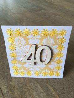 Birthday Card 40  £3.80