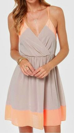 Raise The Stakes Peach And Beige Dress