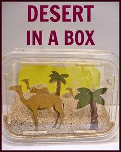 Desert In A Box: Biome diorama – Life Over Cs - Kunstunterricht Science Activities, Activities For Kids, Creative Challenge, Camel Craft, Preschool Crafts, Crafts For Kids, Toddler Preschool, Desert Diorama, Desert Crafts