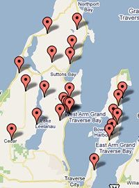 leelanau michigan wineries | traverse city wine map photo gallery home lodging dining wineries ...