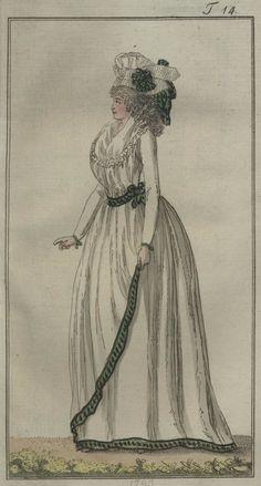 chemise volante ist von linon (full chemise of lawn) - May 1793 Journal des Luxus und der Moden