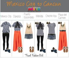 """What to Pack for Mexico"" by travelfashiongirl ❤ liked on Polyvore"